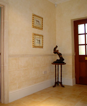 Stoneblocked hallway by Lea