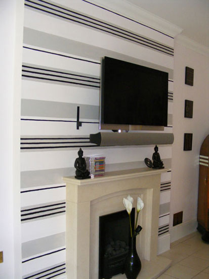 Stripes add contemporary drama to a room