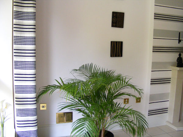Stripe effect created by Lea to compliment the window dressings