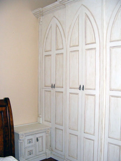Hand painted bedroom cupboards by Lea