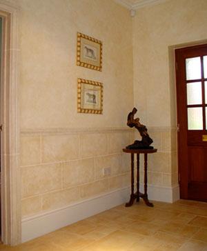 Subtle stoneblocked hallway by Lea