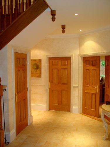 Hand painted hallway in warm tones